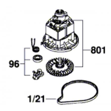 Двигатель Bosch F016104035 газонокосилки Rotak 32
